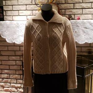 Made In Italy of Benetton Wool  Cardigan Sweater